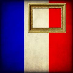Bandiera della Francia con cornice personalizzabile