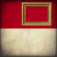 Bandiera di Monaco con cornice personalizzabile