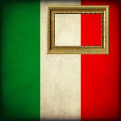 Bandiera del Messico con cornice personalizzabile