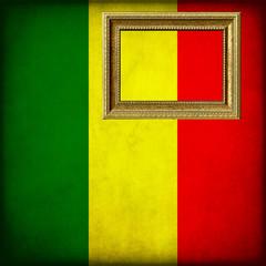 Bandiera del Mali con cornice personalizzabile