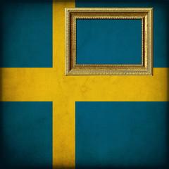 Bandiera della Svezia con cornice personalizzabile