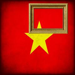 Bandiera del Vietnam con cornice personalizzabile