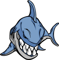 Cartoon Shark Mascot Vector Image