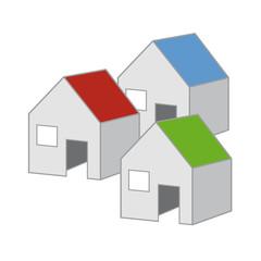 Logo Häuser - z.B. Bauunternehmen