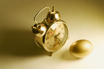 Golden Egg and Alarm Clock