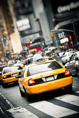 Foto op Canvas New York TAXI New York taxis