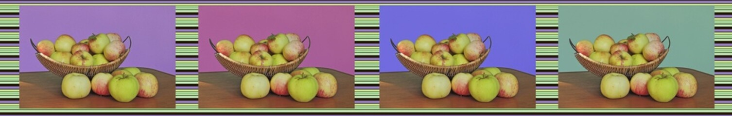 collage of pictures of apples