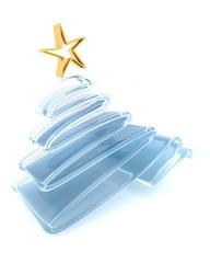 Scribble sketch Christmas tree concept