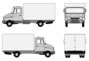 Grey lorry