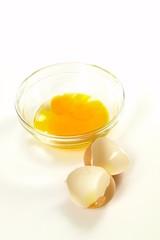 Ei in Glasschüssel / Egg in a glass key