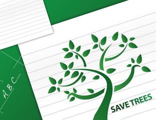 save trees illustration design background