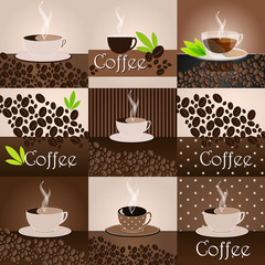 Elegant coffee themed background