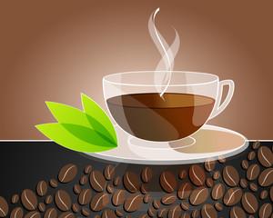 Elegant coffee themed background