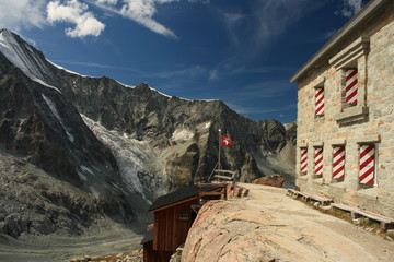Mountain Hut at Durand and Mountet glaciers