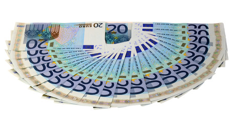 20 euro bills in range order
