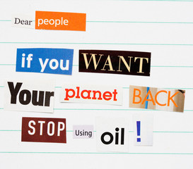 Environment ransom note