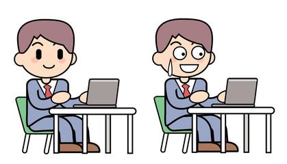 シンプル男性_パソコン