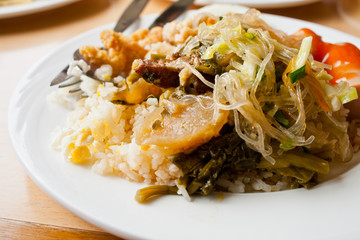 thai food rice and curry