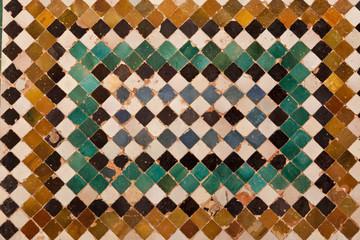 Fototapete - Alhambra de Granada. Ceramic mosaic from Comares facade