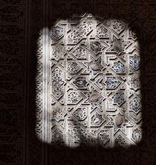 Wall Mural - Alhambra de Granada. Moorish relief with light and shadows