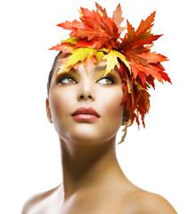 Autumn Woman Fashion Makeup