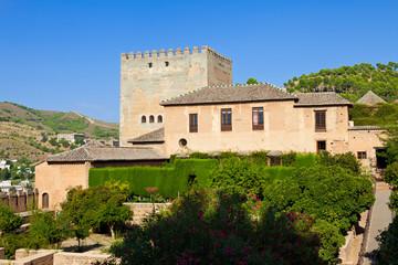 Fototapete - Alhambra de Granada. Machuca garden in Nasrid Palaces