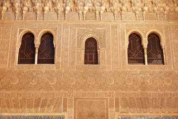 Fotomurales - Alhambra de Granada. Comares facade in Nasrid Palaces