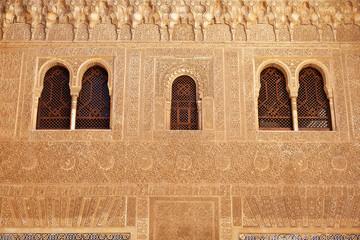 Fototapete - Alhambra de Granada. Comares facade in Nasrid Palaces