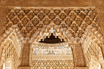 Wall Mural - Alhambra de Granada. Pavilion in the Court of the Lions