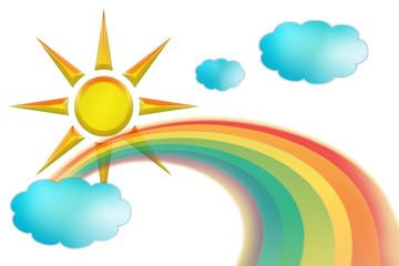 rainbow sun