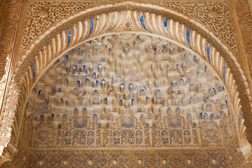 Wall Mural - Alhambra de Granada. islamic decorations of an arch