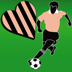 I love the Pink and Black football club