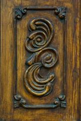 door carved detail