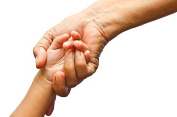 Holding girl's hand