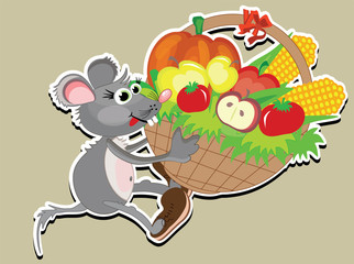 Mouse with basket