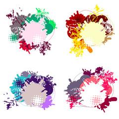 Set of modern dialog bubbles on white background