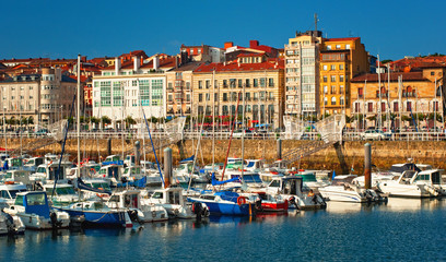 Nice harbor in Spain