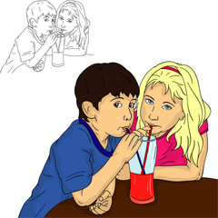 boy and girl drinks
