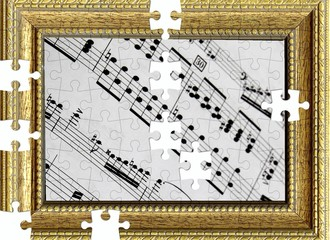 Spartito musicale incorniciato, puzzle