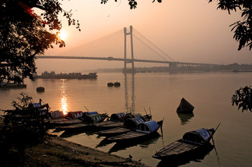 Calcutta, fiume Hoogli
