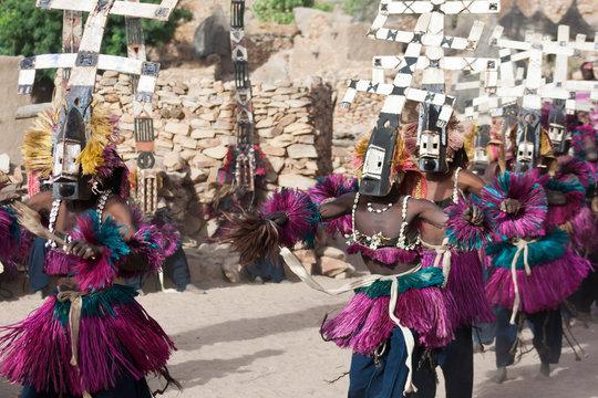 Kanaga mask and the Dogon dance, Mali.
