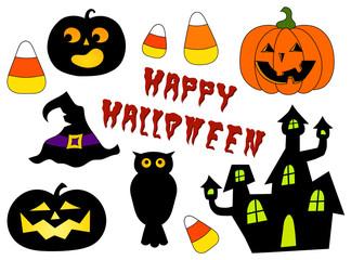 halloween set colored
