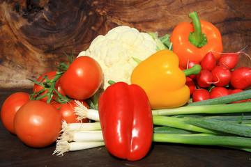 Printed kitchen splashbacks Fresh vegetables Vegetable