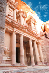 Al Khazneh - the treasury of Petra ancient city, Jordan