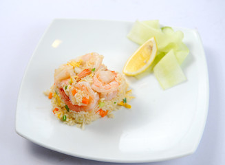 Unique and own style Thai shrimp fried rice