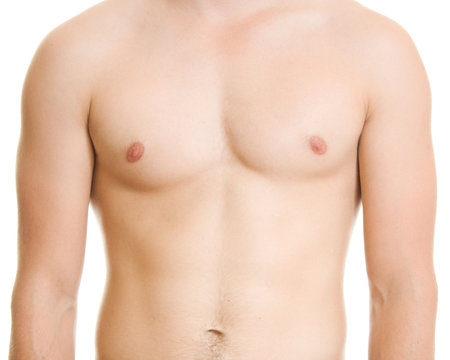 A man with a naked torso.