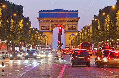 Елисейские Поля Париж центр магистраль скачать
