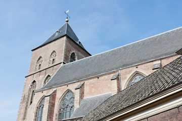 Old catholic church in Kampen, a medieval city of the Netherland