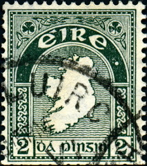 Eire. Timbre postal Irlande.