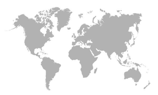 Vector illustration of blank world map